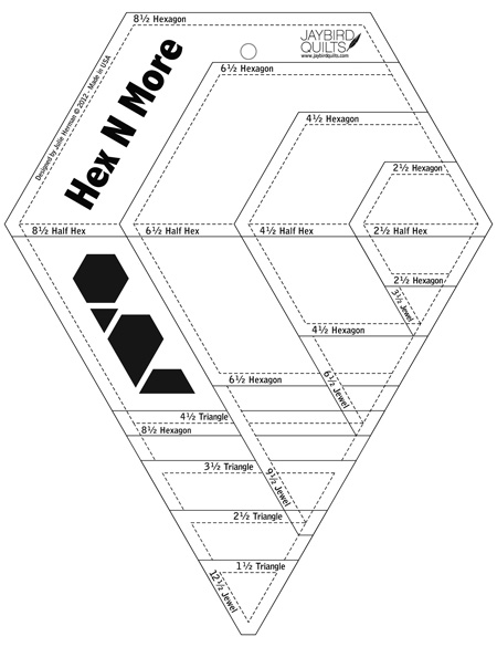 Hex N More Ruler Hexagon Roundup