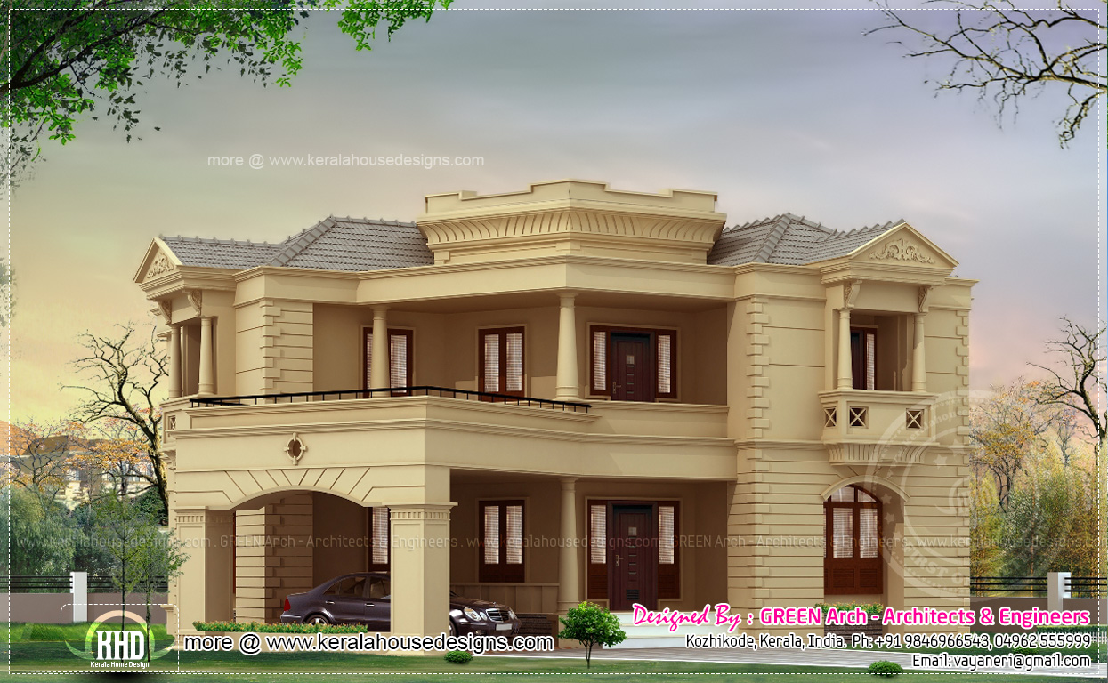 Front Elevation Of Kerala Model Houses : New model house front elevation joy studio design