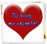 PREMIO TU BLOG ME ENCANTA