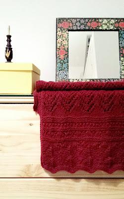 bufanda de punto calada con lana de alpaca