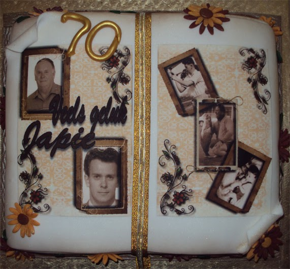 Book Shaped Cake Images : Delana s Cakes: 70th Book shaped cake