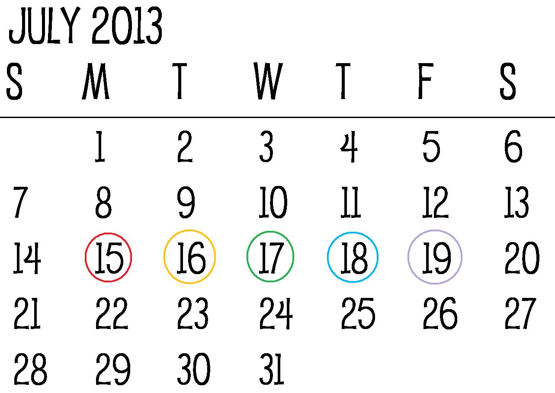 Monday Thru Friday Schedule Template | Calendar Template 2016