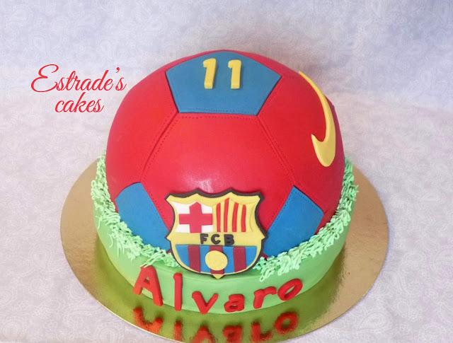 tarta balón del Barcelona 1
