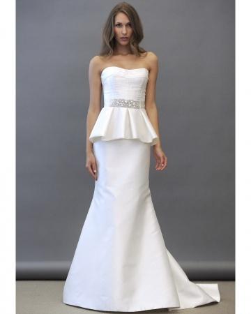 unique and perfect: vestidos de novia péplum / peplum wedding dress