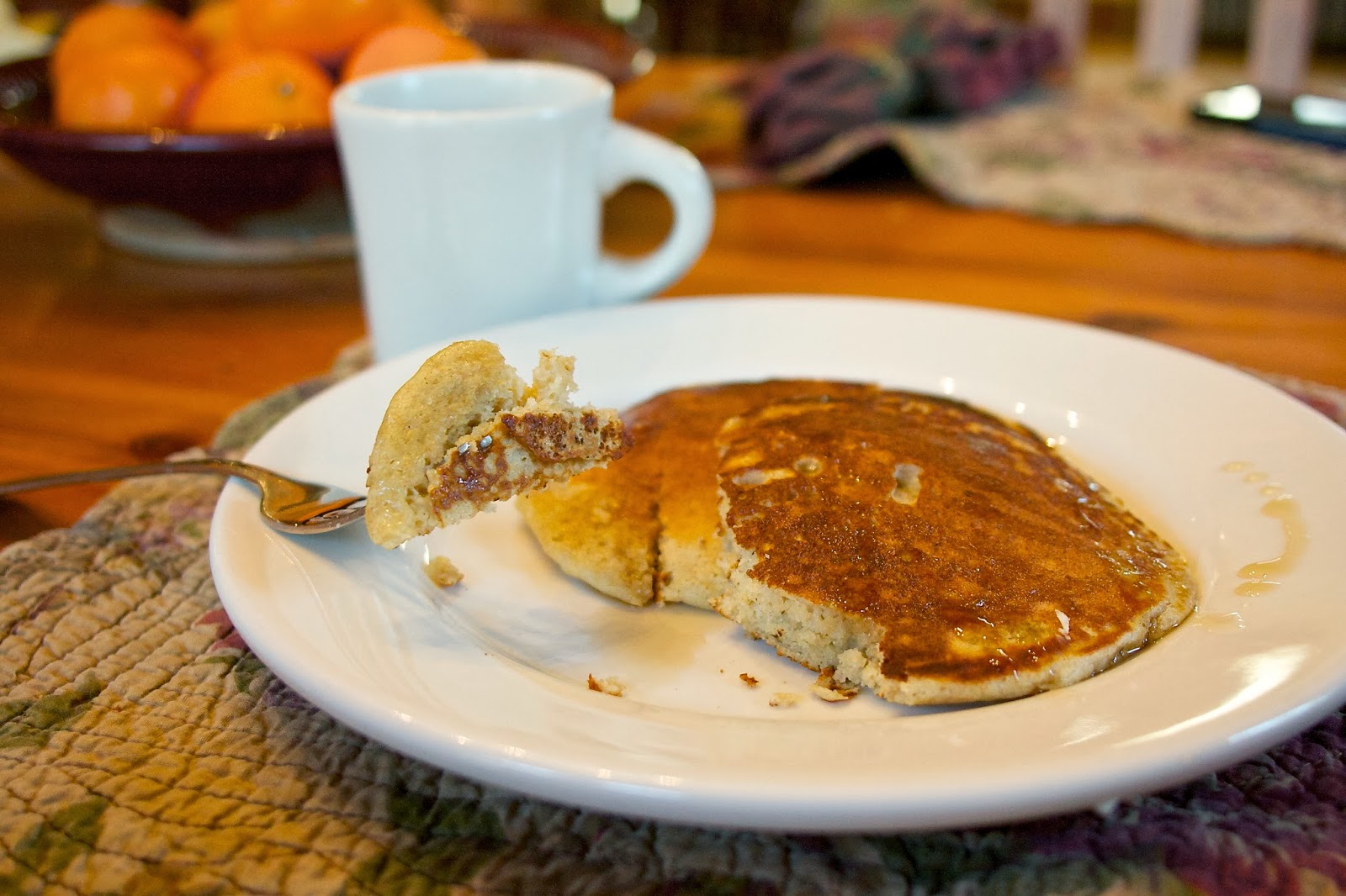 whole grain pancakes: simple living and eating
