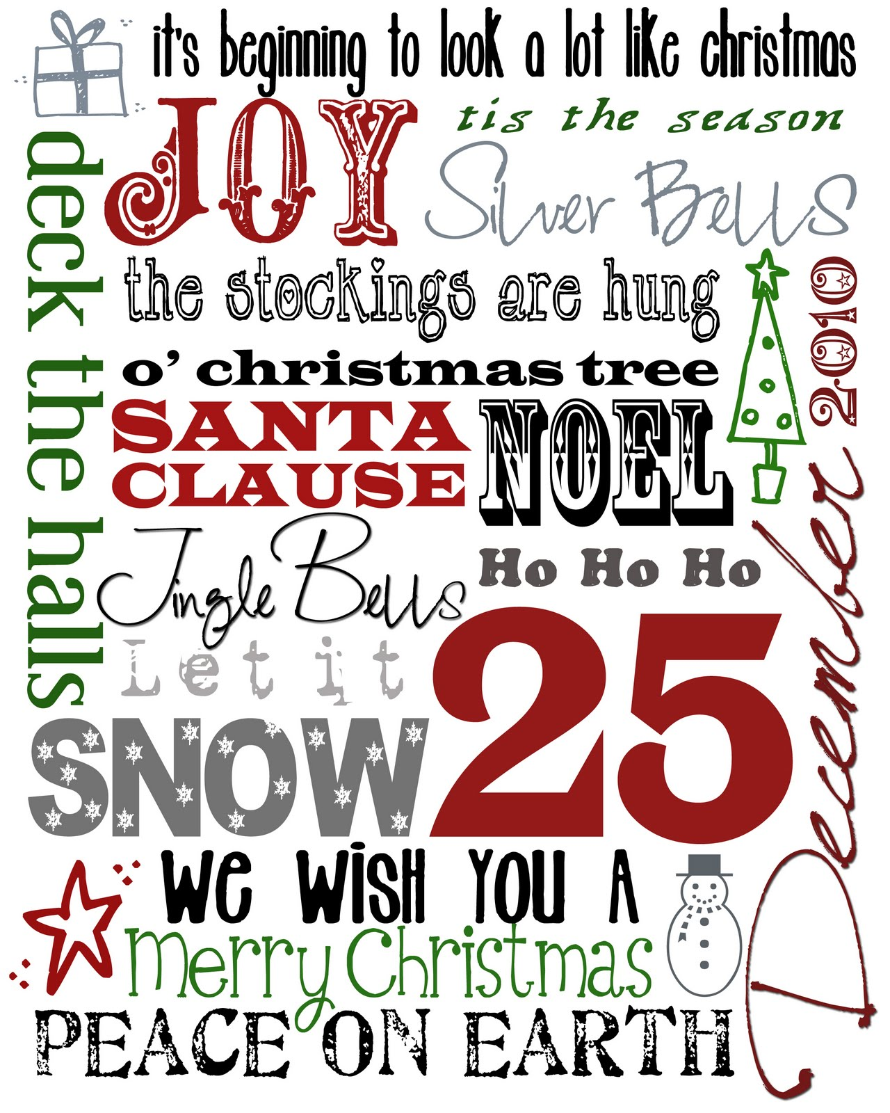 Revered image inside free printable christmas art