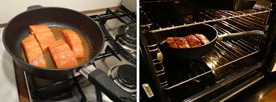 non-stick saute pan, Gastrolux non-stick pan, Oven Baked Teriyaki Salmon