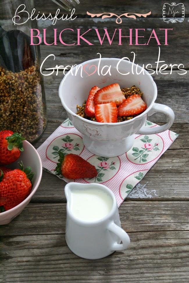 blissful buckwheat granola clusters / granola iz ajdove kaše