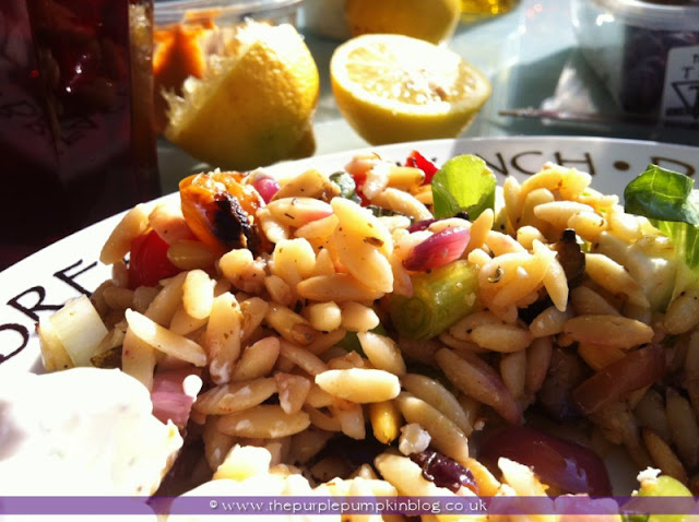 Roasted Vegetable and Orzo Salad at The Purple Pumpkin Blog