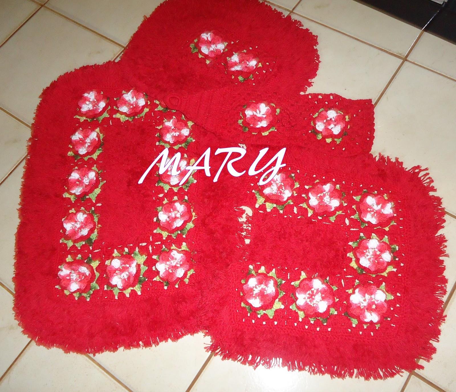 cantinho do artesanato: Jogo de Banheiro em Barbante Croche Argola com  #B5162A 1600 1376