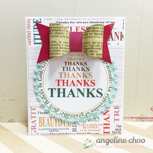 ScrappyScrappy: Gratitude Thanks card #scrappyscrappy #thecuttingcafe #printablestamp #card #thankyoucard