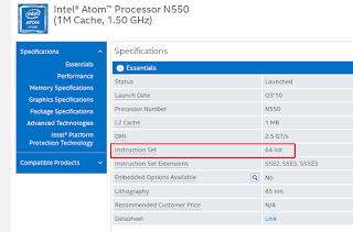website yang menampilkan info dari prosesor intel