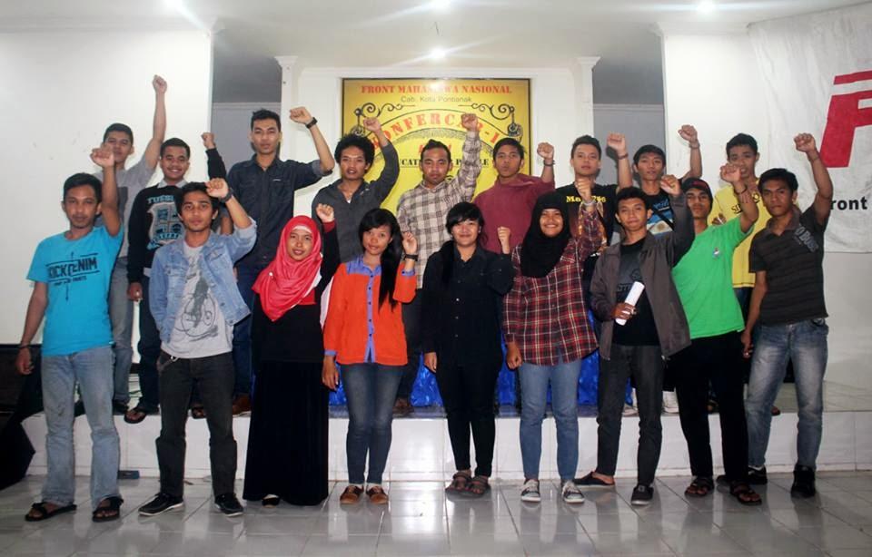 front mahasiswa nasional cabang pontianak