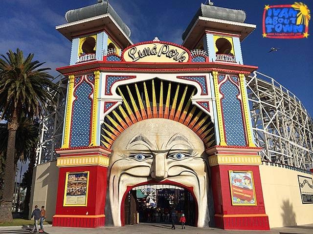 Luna Park in St Kilda, Melbourne, Australia