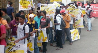 University Students Protest March Kandy to Colombo