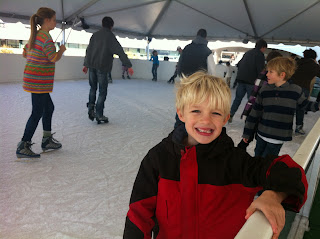 ice skating at Whole Foods in Austin with children