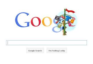 Merah Putih berkibar di Google