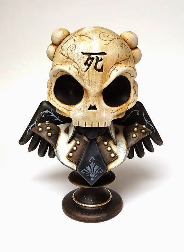 "Squink x Huck Gee Custom Painted Skullhead 6"" Resin Bust"