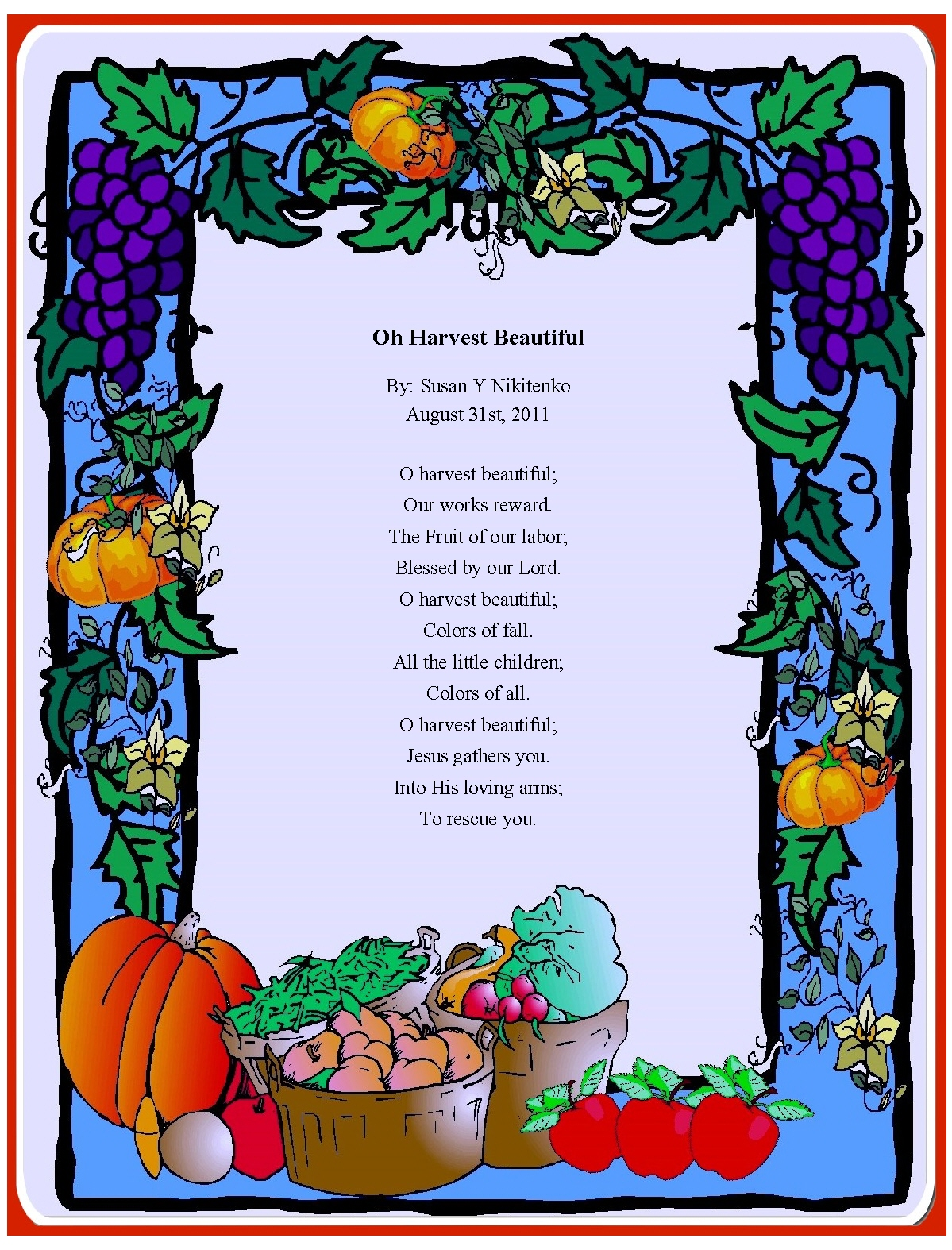 christian images in my treasure box fall harvest posters October Clip Art Free September Calendar Clip Art