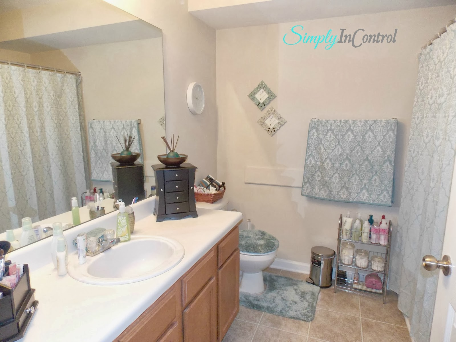 Simply in Control: Apartment Bathroom Makeover and Organization