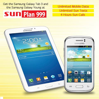 Samsung galaxy young and tab 3 0 free at sun cellular plan for Sun mobile plan