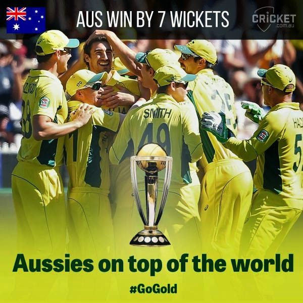 Aussies Win World Cup Final