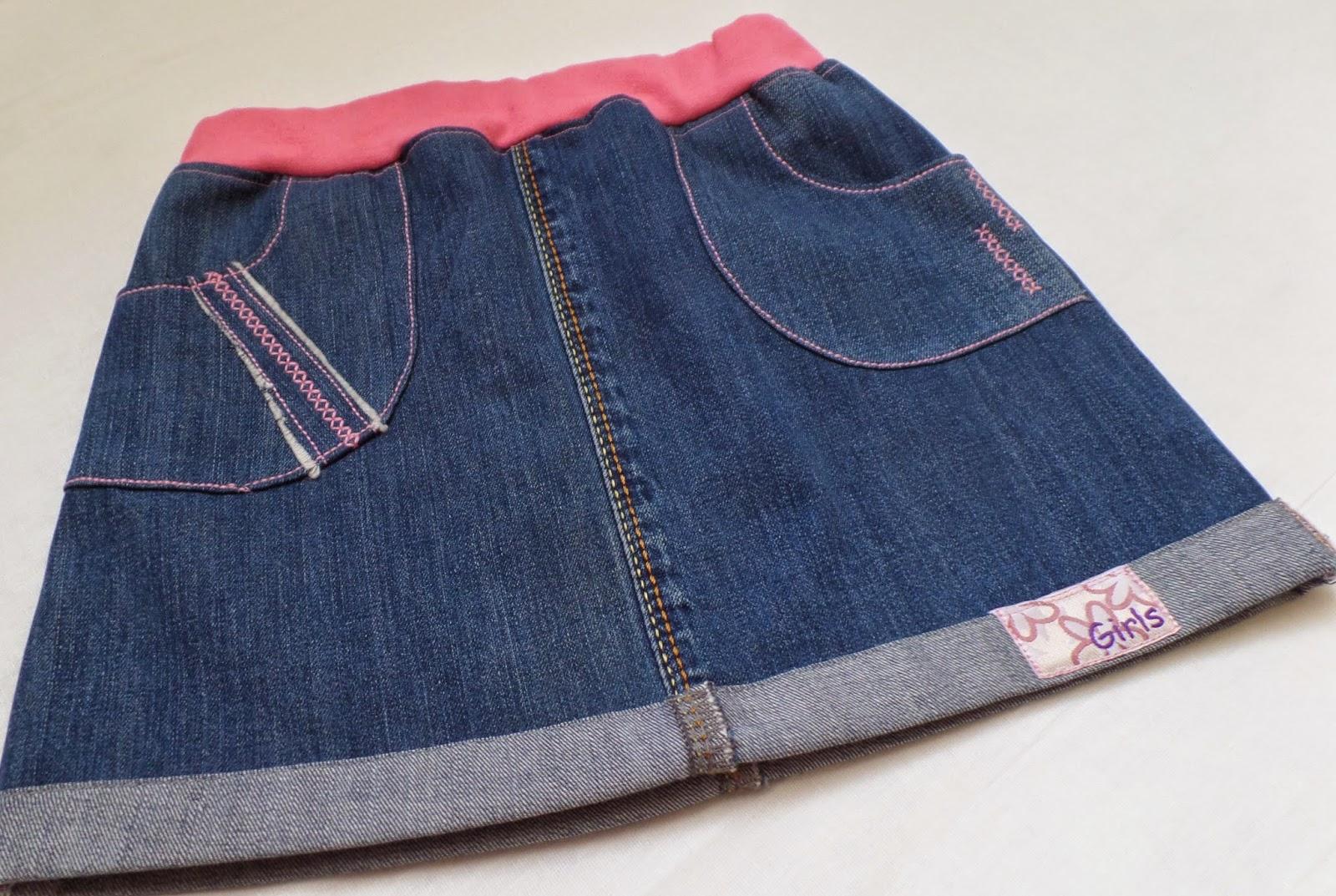 переделка из старых джинсов в юбку