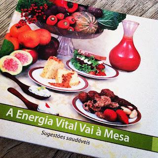 A energia vital vai a mesa, promoção, alimentação saudável, livros de alimentação saudável,