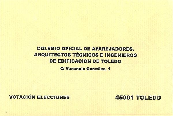 Candidatura de maite sanchez escobar - Colegio arquitectos toledo ...