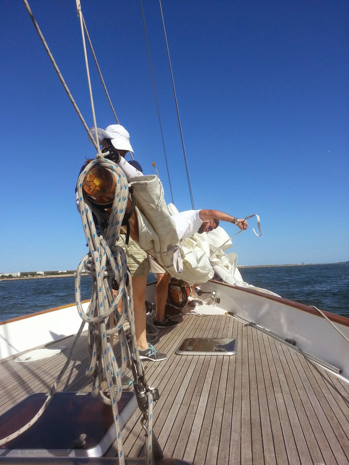 Setting sail on the Adirondack III.