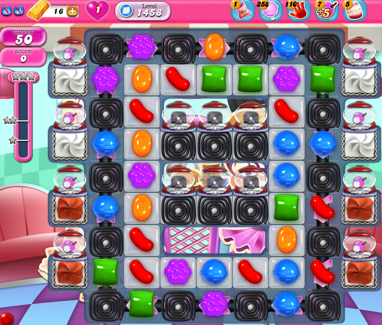 Candy Crush Saga 1458
