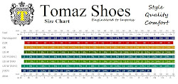 Size Chart by Tomaz Shoes !