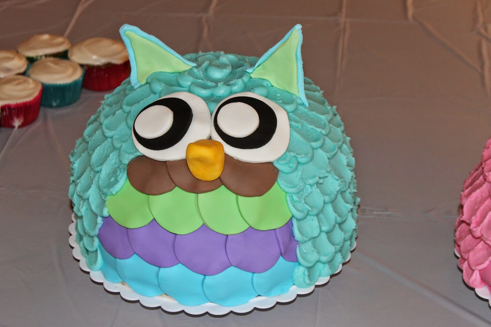 Owl Themed Baby Cakes