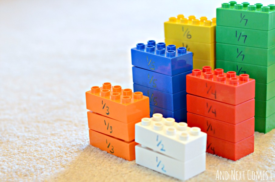 Learning About Fractions with Lego | And Next Comes L