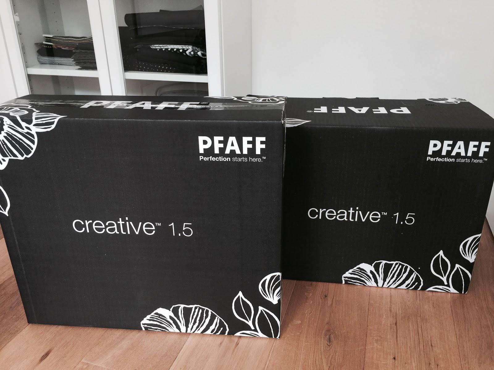 pfaff creative 1 5 im test besticken von korkleder und. Black Bedroom Furniture Sets. Home Design Ideas