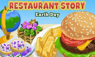 Screenshots of the Restaurant story: Earth day for Android tablet, phone.