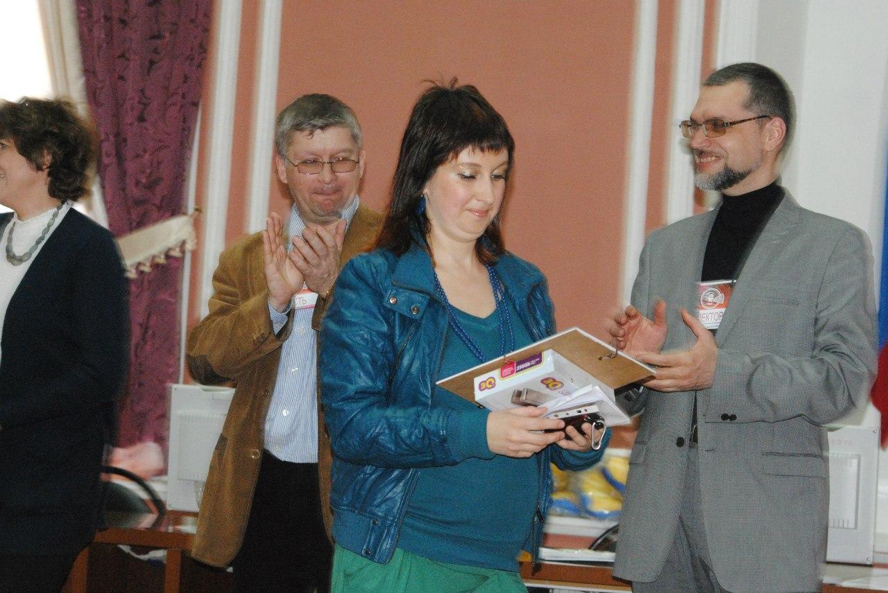 Вручение призов на Фестивале сторителлинга: Кирилл Гопиус, Юля Архарова, Сергей Калинин