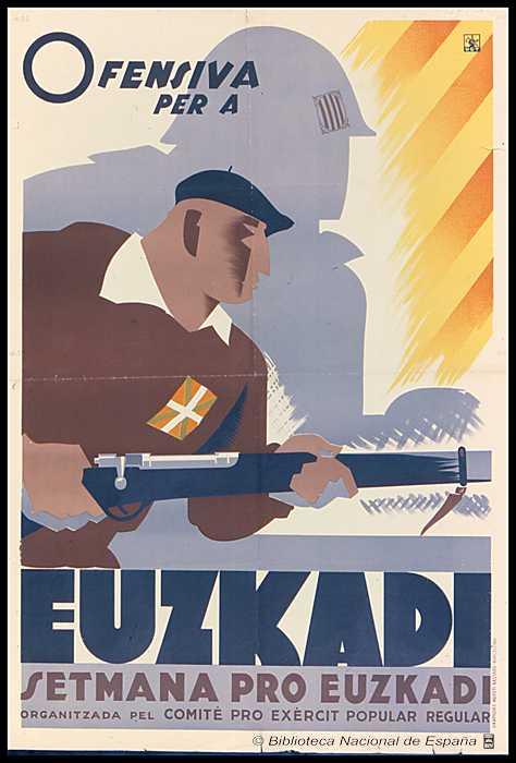 cartel de euskadi de guerra civil