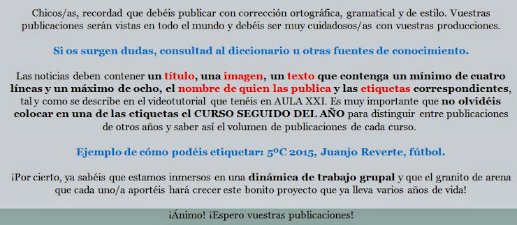 ¡INFORMACIÓN DE LECTURA OBLIGATORIA ANTES DE PUBLICAR!