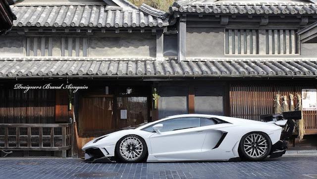 日本発!巨大なリアウイングを装着したランボルギーニ・アヴェンタドールのカスタム。