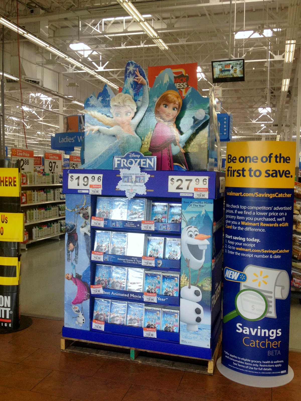 Disney FROZEN DVD at Walmart
