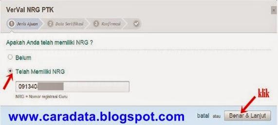 Pilih Telah Memiliki NRG