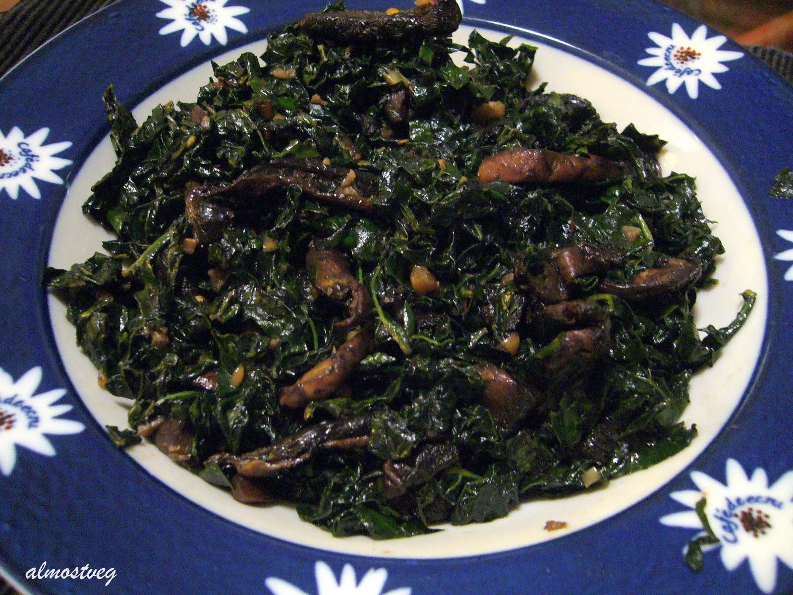 sauteed portobello mushrooms with tuscan kale 1 bunch organic tuscan