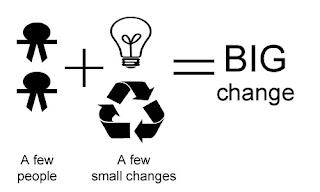 A few people plus a few small changes equals BIG CHANGE