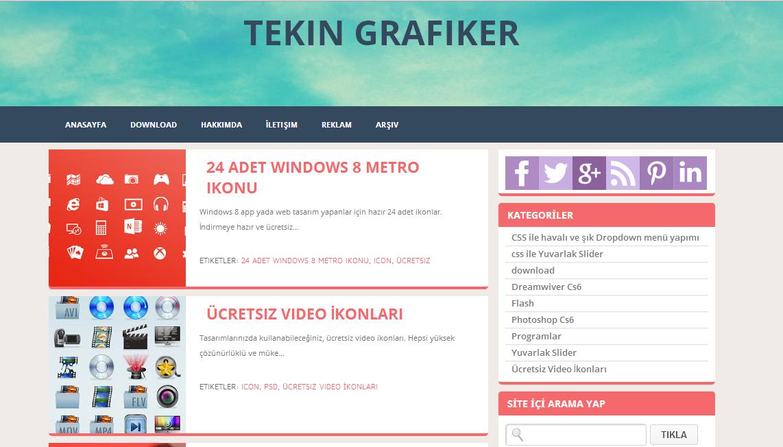 ZikazevFlat Super Blogger Tema