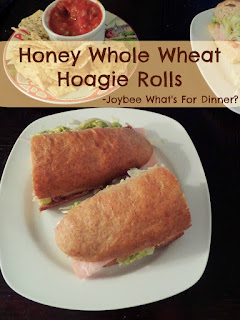 Honey Whole Wheat Hoagie Rolls:  Soft, fluffy and sturdy half whole wheat rolls with a slight sweetness perfect for any submarine sandwich.
