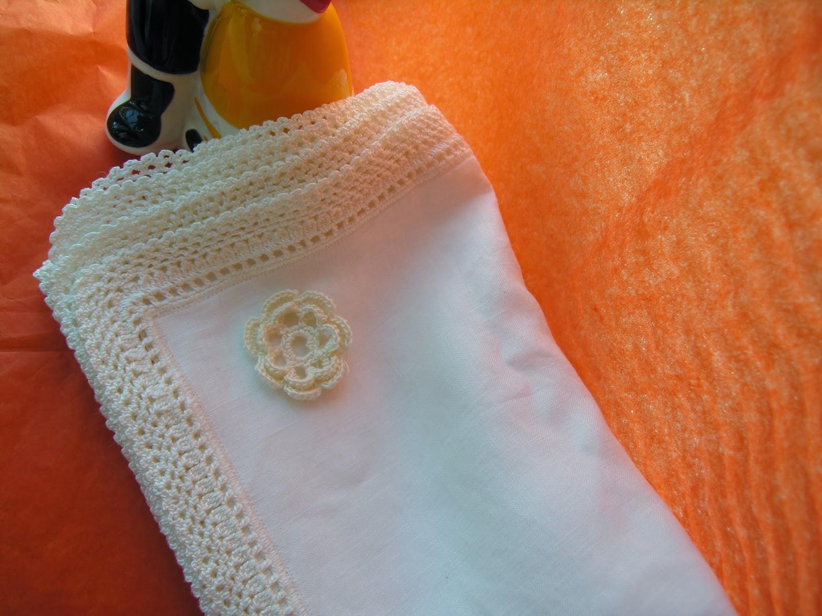 Crochet handmade manteles individuales en lino color - Manteles de lino ...