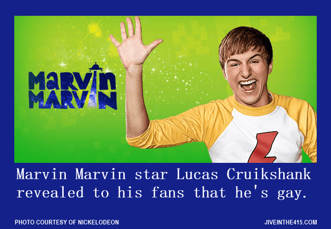 """Marvin Marvin"" star Lucas Cruikshank came out, and revealed to his fans that he's gay."