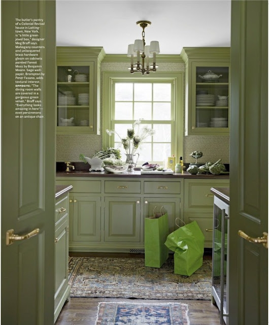 Kitchen Paint Green: Chinoiserie Chic: The Green Chinoiserie Home