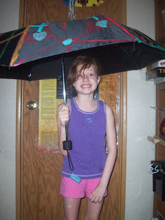 Daughter with umbrella